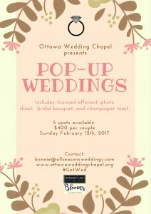 Pop-up Weddings at Ottawa Wedding Chapel