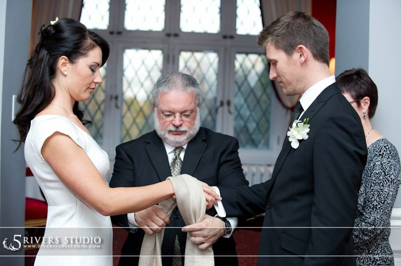 All Seasons officiant Alan Viau performing a handfasting
