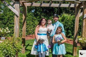 pop-up wedding photo