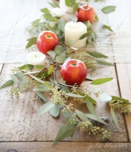 Tablescape with apples